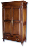 Laurel Crown Philip Style Wardrobe with Drawers