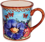 Boleslawiec Polish Pottery Coffee Mug - Blue Sky Meadow