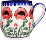 Boleslawiec Polish Pottery Ladies Mug - Poppy Field
