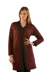 Hudson Alpaca Swirl Cardigan - Red/Black