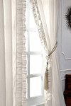 "Amity Home Basillo linen Curtains 96"" S/2 - Ivory"