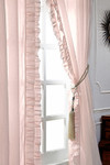 "Amity Home Basillo linen Curtains 96"" S/2 - Petal Pink"