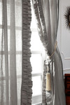 "Amity Home Basillo linen Curtains 96"" S/2 - Grey Chambray"