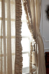 "Amity Home Basillo linen Curtains 96"" S/2 - Natural"