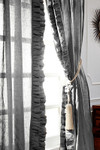 "Amity Home Basillo linen Curtains 96"" S/2 - Neutral Grey"