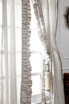 "Amity Home Basillo linen Curtains 96"" S/2 - Platinum Grey"