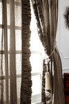 "Amity Home Basillo linen Curtains 96"" S/2 - Walnut Brown"