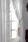 "Amity Home Basillo linen Curtains 96"" S/2 - White"