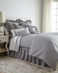 Amity Home Basillo linen Duvet Cover - Platinum Grey