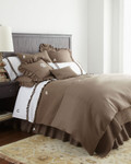 Amity Home Basillo linen Duvet Cover - Walnut