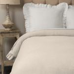 Amity Home Basillo linen Duvet Cover -Ivory