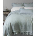 Amity Home Basillo linen Duvet Cover - Seaglass