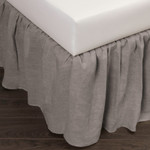 Amity Home Basillo Linen Bed Skirt - Grey Chambray