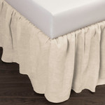 Amity Home Basillo Linen Bed Skirt - Ivory