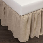 Amity Home Basillo Linen Bed Skirt - Natural