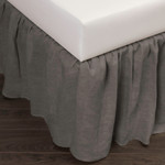 Amity Home Basillo Linen Bed Skirt - Neutral Grey