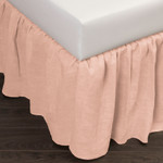 Amity Home Basillo Linen Bed Skirt - Petal Pink