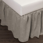 Amity Home Basillo Linen Bed Skirt - Platinum Grey