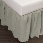 Amity Home Basillo Linen Bed Skirt - Sea Glass