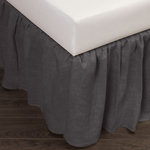 Amity Home Basillo Linen Bed Skirt - Steel Blue