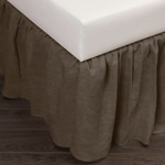 Amity Home Basillo Linen Bed Skirt - Walnut Brown