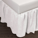 Amity Home Basillo Linen Bed Skirt - White