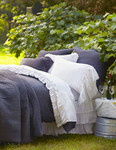 Amity Home Basillo linen Duvet Cover - Steel Blue