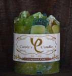 "Gingered Oak Scented Pillar Gem Top Candle - 4""x5"""