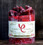 "Candy Apple Scented Pillar Gem Top Candle - 4""x5"""