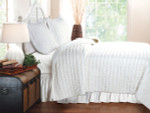 Greenland Home Ruffled White Quilt Set