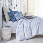 Under The Canopy Shibori Chic Blue Comforter Set