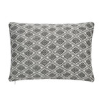 Under The Canopy Abstract Aztec Breakfast Charcoal Decorative Pillow
