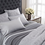 Luxe Medaglion Silver Matelasse Coverlet