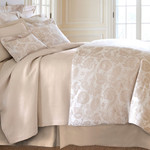 Luxe Chinois Damask Sandstone Duvet Cover