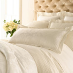 Luxe Chinois Damask Ivory Duvet Cover
