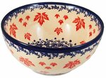 Boleslawiec Polish Pottery Cereal Bowl - Maple Leaf