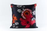 Ann Gish Daisy Silk Pillow - Black