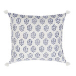 Pom Pom and Home Fena Hand Blocked Pillow - Indigo