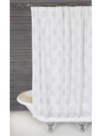 Pom Pom at Home Bahaar Hand Blocked Shower Curtain - White/Silver