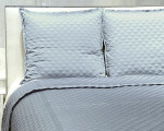 Ann Gish Double Diamond Coverlet Set - Silver