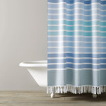 Kassatex Bodrum Shower Curtain - Blue