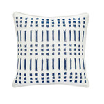 "Under The Canopy Amalfi Stripe 16"" Embroidered Ikat Decorative Pillow"