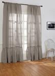 Amity Home Caprice Linen Curtain - Grey Chambray