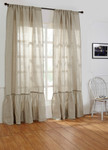 Amity Home Caprice Linen Curtain - Natural