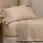 Amity Home Eveline Linen Crochet Sheet Set - Natural