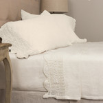 Amity Home Eveline Linen Crochet Sheet Set - Ivory