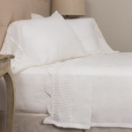 Amity Home Eveline Linen Crochet Sheet Set - Linen White