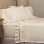 Amity Home French Ruffle Sheet Set - Ivory