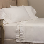 Amity Home French Ruffle Sheet Set - White