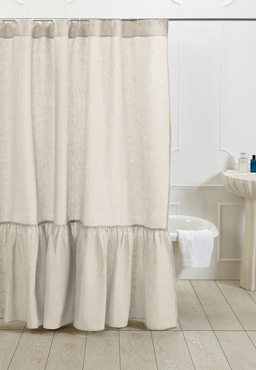 Amity Home Caprice Linen Shower Curtain
